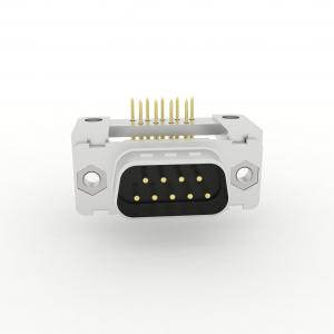 D-Sub Steckverbinder Standard Einlötanschluss abgewinkelt mit Kunststoffwinkel und Durchgangsloch