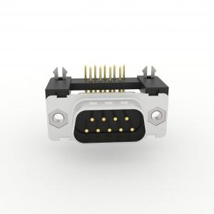 D-Sub Steckverbinder Standard Einlötanschluss abgewinkelt mit Kunststoffwinkel und Erdungsclip