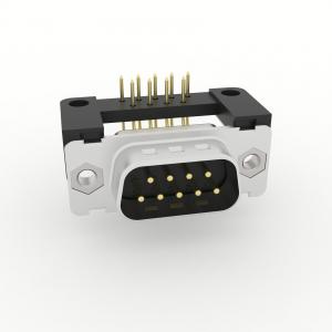 D-Sub Filtersteckverbinder Einlöt abgewinkelt mit Erdungswinkel, Durchgangsloch und UNC 4-40 Gewinde