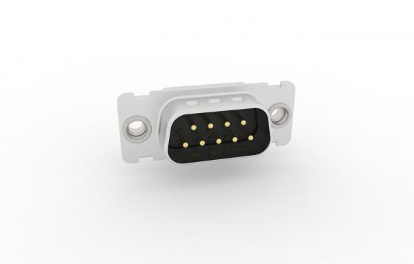 D-Sub Steckverbinder Standard Einlötanschluss gerade mit Gewindeniet