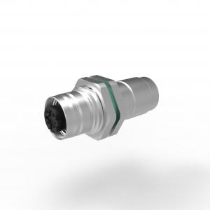 M12 Mini D Ethernet Hinterwand Crimp KV